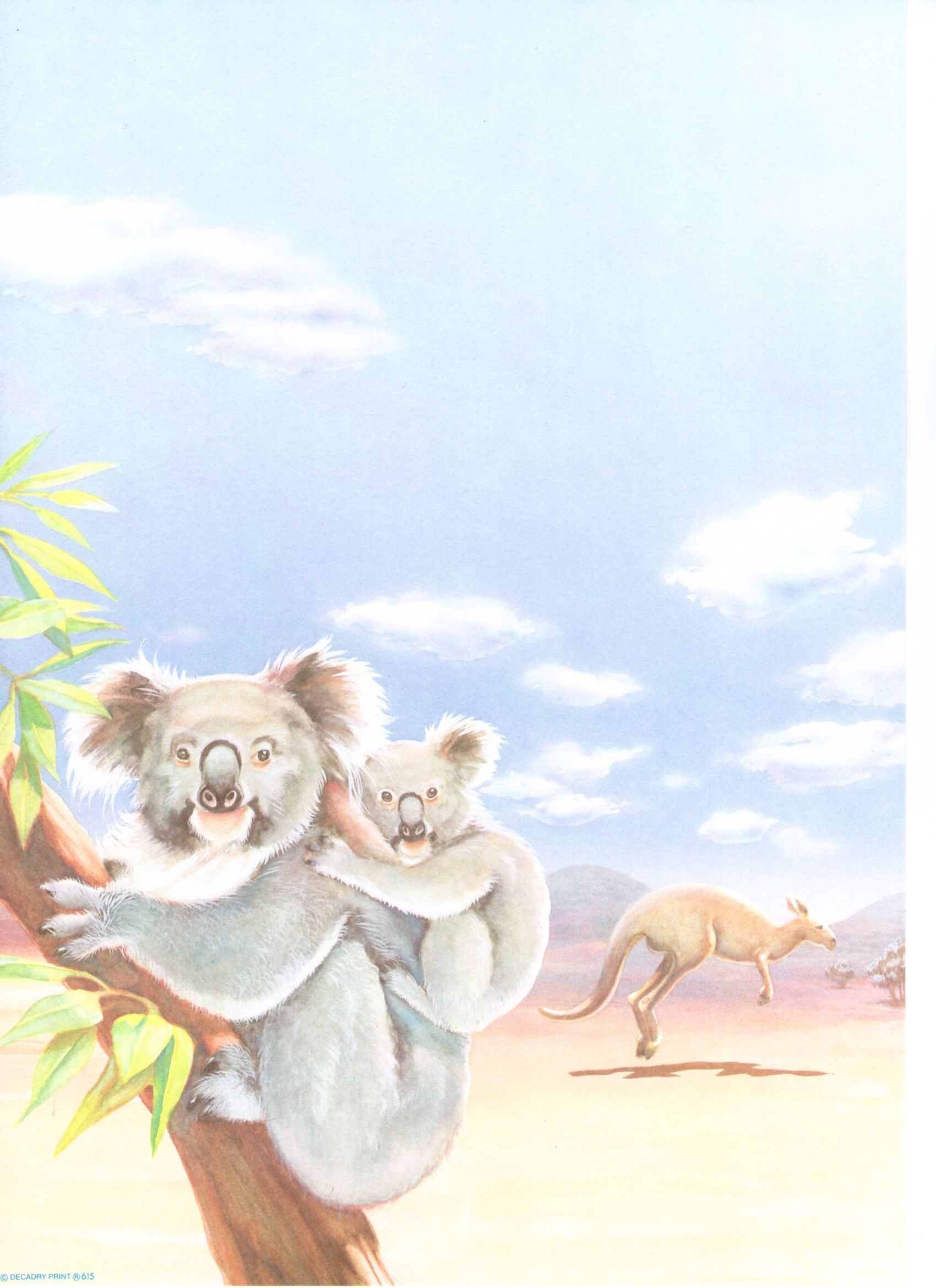 Parchemin Koala pour poème