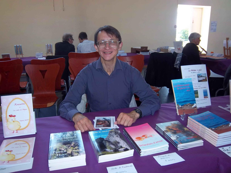 Patrick Huet au salon du livre de Collonges au Mont d'or en 2013