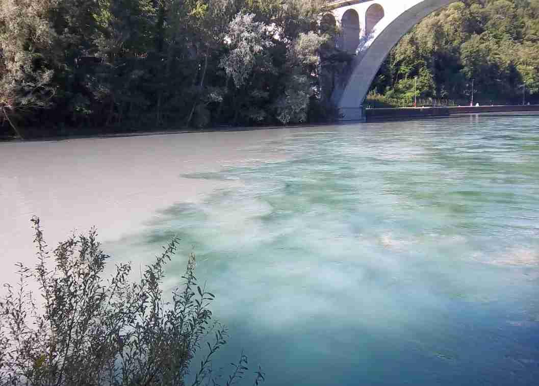 Photo de la confluence Rhône et Arve par Patrick Huet