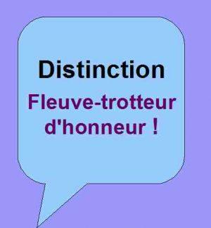 Distinction Fleuve-trotteur d'honneur pour soutenir les activités littéraires de Patrick Huet.