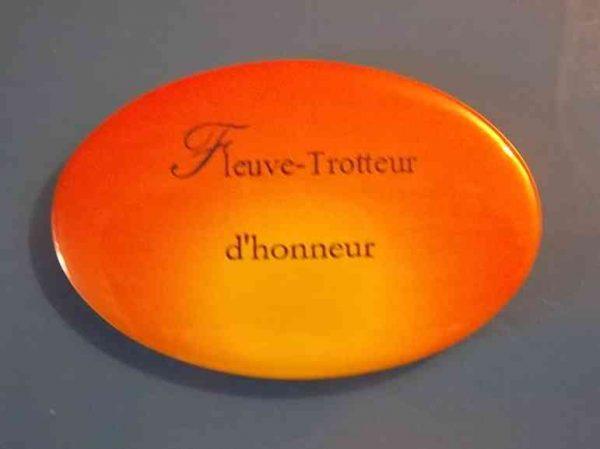 Badge de la Collection Fleuve-trotteur de Patrick Huet.