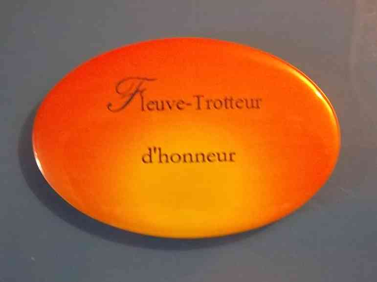 Badge de la Collection Fleuve-trotteur de Patrick Huet.