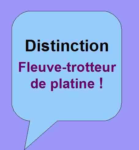 Distinction honorifique Fleuve-trotteur de platine pour soutenir les activités littéraires de Patrick Huet.