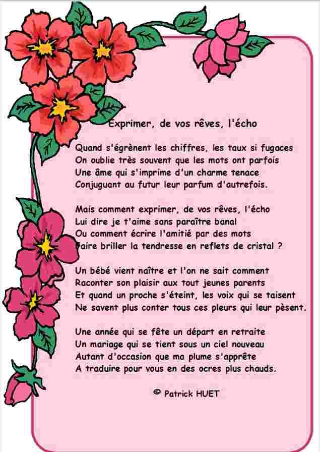 poeme pour depart en retraite