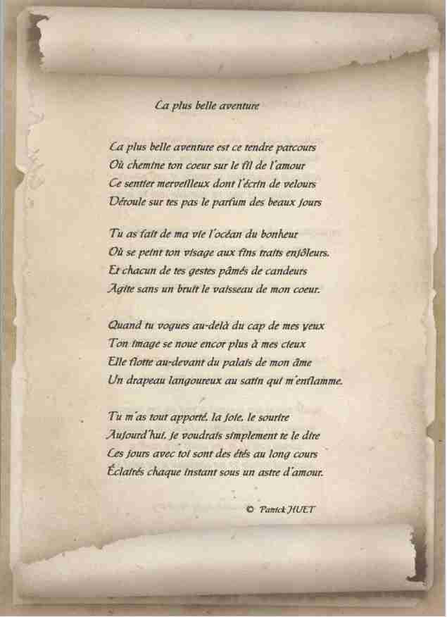 Offrez Un Poème Sur Mesure Patrick Huet