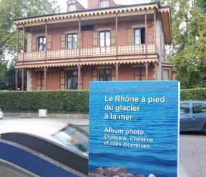 Le livre du Rhône de Patrick Huet à Vichy aux chalets Napoléon III.