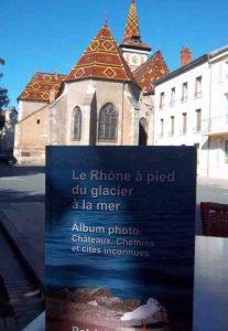Le  Livre parlant du Rhône à Louhans - photo de Patrick Huet.