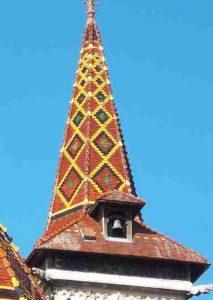 Louhans -Flèche de l'église Saint-Pierre où s'arrêta Patrick Huet