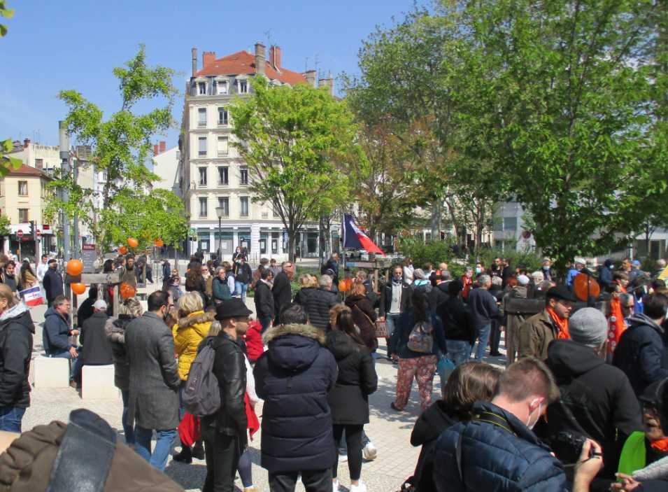 Manifestation pour la liberté à Lyon - 500 personnes.